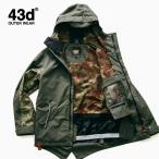 ショッピングジャケット スノーボードウェア ジャケット 単品 ユニセックス 43Degrees モッズコート type