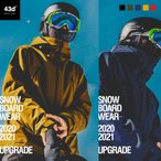 【予約/9月末入荷】スノーボード ウェア 43DEGREES スキーウェア 上下セット メンズ 2020-2021 ビブパンツ スノボウェア スノーボードウェア スノボ