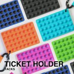 Luxs ラバーチケットホルダー(ダイヤ) パスケース / チケットホルダー / リフト券入れ<br>ラバー素材の新感覚チケットホルダー登場!機能的なパスケース