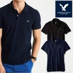 アメリカンイーグル ポロシャツ 半袖 メンズ AE American Eagle ae1861 紺 ネイビー メール便送料無料