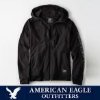 アメリカンイーグル メンズ アクティブ フルジップ パーカー American Eagle AE ae1918 ブラック