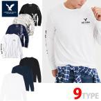 アメリカンイーグル メンズ  ロングTシャツ ae261 ホワイト ブラック ネイビー オリーブ