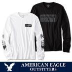 アメリカンイーグル メンズ ロング Tシャツ ロンT AmericanEagle ae262 ホワイト ブラック