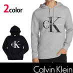 カルバン・クライン【Calvin Klein】メンズ 長袖  プルオーバー パーカー ブラック グレーck336 XL XXL相当サイズあり 大きめ
