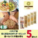 イタリア産 有機デュラム小麦100% パスタ 乾麺 SOLLEONE Bio 5袋セット おまけ付き 送料無料  sol05 全粒粉 1.7mm 2mm スパゲッティ