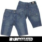 UNDEFEATED UNDFTD アンディフィーテッド メンズ ハーフ ジーンズ ud06