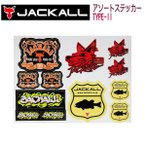 JACKALL ����å��� Assort Sticker Type2 �������ȥ��ƥå��� ������ 130mmx175mm �����ȥɥ� �ե��å��� �Х����