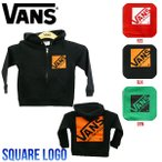 VANS バンズ Square Logo Boys Zip Up Hooded Sweat ボーイズ長袖パーカー ジップアップパーカー キッズパーカー