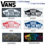 ��VANS�ۥХ� VANS Sticker DECK  LOGO ���ƥå���/10.3����4.5���/4���顼 BLACK RED WHITE LEOPARD NAVY GRADATION
