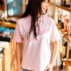 ポロシャツ メンズ レディース 半袖 猫 お魚くわえたどらねこさん - OXピンク ネコ ねこ 猫柄 雑貨 SCOPY スコーピー