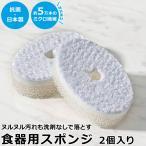 猫壱 ヌルヌル汚れも洗剤なしでキレイに落とす食器用スポンジ (64296)