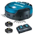 【バッテリ・充電器セット】 RC200DZ マキタ(makita) 18V 充電式ロボットクリーナ <本体・バッテリBL1860B(2個)・2口急速充電器DC18RD>