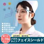フェイスシールド メガネ型 メガネタイプ フェイスガード ウイルス対策 飛沫防止 歯科 医療 飛沫対策 くもり止め 曇らない