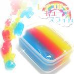 韓国 スライム レインボー キューブ キャンディ シャリシャリ 触感 ゼリー カラフル メール便不可 宅急便配送商品