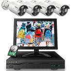 500万画素・録音  防犯カメラ 10インチモニター付き 防犯カメラ poe POE防犯カメラセット 4台500万画素 防犯カメラ 屋外 暗視 OSX-JPPOE10-W5004