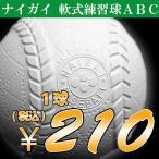 ボール ABC号 軟式野球 練習球 検定落ち ナイガイ 1球【210円均一特価】