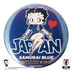 Betty Boop×侍ブルー BETTY BOOP 缶バッジ サッカー日本代表ver.