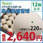 ショッピングキングダム 野球キングダムオリジナルソフトテニス練習球 12個(1ダース)【ソフトテニスボール】