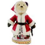 "Sleigh Bellsリング16 "" Plush Santa Bear w / Stand by Boyds Bears Jim Shore並行輸入"