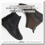 ブーツ レディース サイドゴア ローヒール 本革 履きやすい INCHOLJE(インコルジェ) 8470  ウエッジソール 軽量 歩きやすい フラット セール