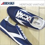 BROOKS ブルックス メンズ スニーカー BROOKS ブルックス HERITAGE VANTAGE ヘリテージ ヴァンテージ Navy Blue/White ネイビーブルー/ホワイト