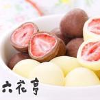 六花亭 ストロベリーチョコセット 袋タイプ  80g(ミルク・ホワイト) 北海道お土産 友人 お取り寄せ 贈り物 かわいい いちご ドライフルーツ 母の日