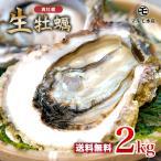 九十九島かき 殻付き牡蠣2kg(30〜40個前後)<開け方・調理ガイド付き、家族4人で満足量!>生食OK!