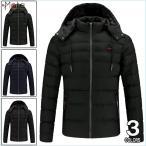 キルティングジャケット メンズ ダウンコート 中綿コート フード付き 中綿ジャケット ダウンジャケット 防寒着 軽量 アウター