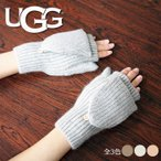 UGG アグ ニットグローブ 手袋 17501 全3色 ニットかぶせ付き指なし手袋 スマートフォン対応 手袋 ミトン