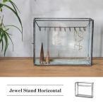 ジュエルスタンドホリゾンタル 『ジュエリーボックス ガラス アイアン ネックレス 店舗什器 北欧 ディスプレイ ケース スチール』