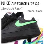 ショッピングFORCE NIKE AIR FORCE 1 07 Swoosh Pack Black ナイキ スウォッシュ AH8462-002