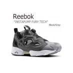 Reebok リーボック INSTAPUMP FURY TECH Black Grey ブラック グレー ポンプフューリー AR0625