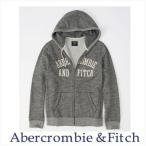 アバクロ メンズ パーカー プルオーバー Abercrombie&Fitch 正規品 グラフィック フルジップフーディー グレーテクスチャー