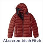 Abercrombie&Fitch USAモデル アウター ジャケット メンズ 本物保証 取り外し可能フード パッカブルパファージャケット レッド