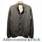 アバクロ メンズ Abercrombie&Fitch シェルパライニング ビックムース刺繍 カウチンセーター