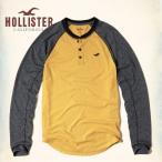 ホリスター HOLLISTER メンズ  ロンT 長袖 ヘンリー Colorblock Jersey Henley 62535 イエロー