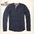 ショッピングホリスター ホリスター HOLLISTER 新作 メンズ 長袖 ロンT  ヘンリー Textured Icon Henley ネイビー