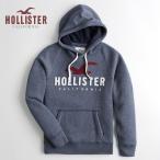緊急セール  HOLLISTER ホリスター パーカー メンズ  ロゴ グラフィック フーディー ヘザーネイビー