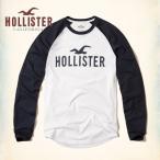 ホリスター HOLLISTER メンズ  ロンT 長袖 カラーブロックロゴグラフィックTシャツ 62662 ホワイト