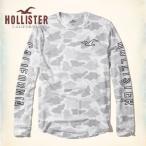 ショッピングホリスター ホリスター HOLLISTER 新作 メンズ 長袖 ロンT クルーネック グラフィックTシャツ グレーカモフラージュ