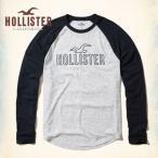 ショッピングホリスター ホリスター HOLLISTER メンズ  ロンT 長袖 カラーブロック ラグラン グラフィックTシャツ ヘザーホワイト