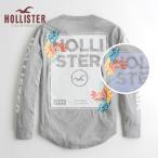 ショッピングホリスター ホリスター HOLLISTER メンズ 長袖 ロンT  感光変色素材 ロゴグラフィックTシャツ ヘザーグレー