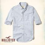 ショッピングホリスター ホリスター HOLLISTER 新作 メンズ 長袖 ボタンダウン プラッド ポプリンシャツ ブルー