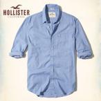 ショッピングホリスター ホリスター HOLLISTER 新作 メンズ 長袖 62829 ボタンダウン ストレッチ ポプリンシャツ ブルー