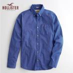 ショッピングホリスター ホリスター メンズ 長袖  HOLLISTER 新作 ストレッチ ポプリンシャツ ブルー