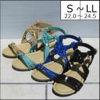 ショッピングサンダル サンダル レディース 靴 夏 履きやすい フラット ぺたんこ クロスフラットサンダル 6264
