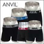雅虎商城 - ボクサーパンツ メンズ ブランド ANVIL アンビル アンダーウェア 男性用下着 ブラックベース 新ロゴ ANV-531