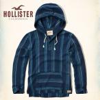ホリスター HOLLISTER  パーカー メンズ Baja Cotton-Linen Hoodie 62251 ネイビーストライプ