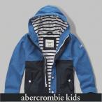 アバクロ キッズ パーカー フーディー ボーイズ AbercrombieKids  preppy jacket Kids 62096 ブルー