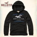 ショッピングホリスター ホリスター パーカー メンズ プルオーバー フ―ディー HOLLISTER Logo Graphic Fleece Hoodie 62318 ブラック